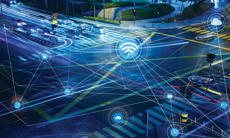 5G will revolutionize connected & networked vehicle technologies, enable dramatically increased intelligence, improved traffic flow, and increased safety.