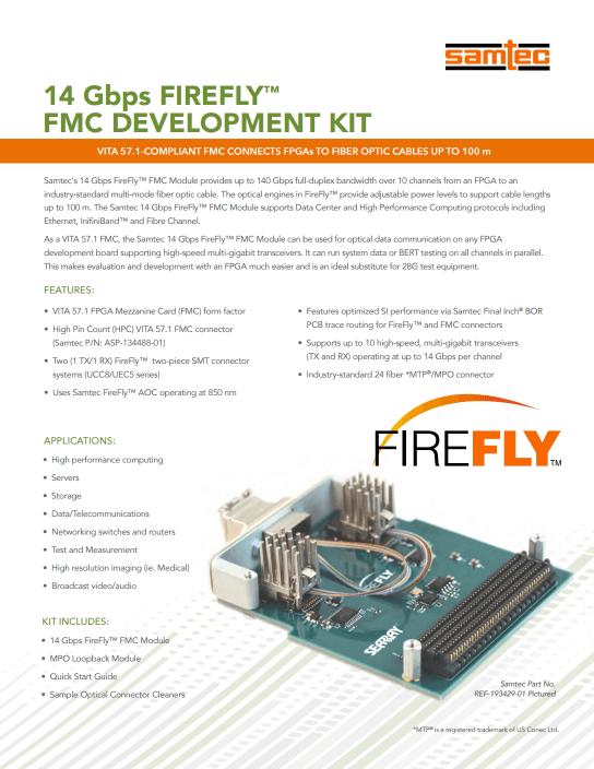 FireFly™ ई-विवरणिका
