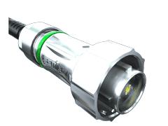 AccliMate™IP68密封圆形电缆组件、插头、16 mm外壳