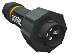 AccliMate™ IP68密封圆形插头电缆组件、12 mm外壳、现场终端套件