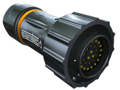 AccliMate™ IP68密封圆形插头电缆组件、22 mm外壳、现场终端套件