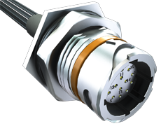AccliMate™ IP68密封圆形面板组件、插座、16 mm外壳