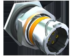 AccliMate™ IP68密封圆形插座面板组件、12mm外壳、现场端接套件