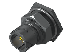 Acclimate™ IP68 12 mm Shell Crimp Panel Receptacle