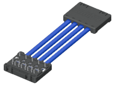 2.00 mm High-Speed Press-Fit Twinax Cable Assembly