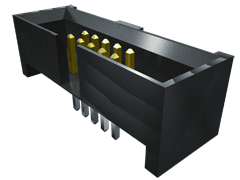 ".050"" Shrouded Header For FFSD With Strain Relief"
