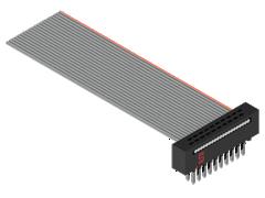 ".050"" Tiger Eye™ IDC带状电缆组件,针脚/插座"