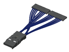 Double Density Flyover® QSFP Cable System