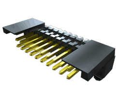 ".050"" Shrouded Horizontal Surface Mount Terminal Strip"