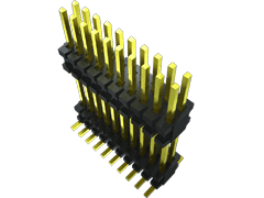 ".050"" Flex Stack, Flexible Micro Board Stacker, Surface Mount"