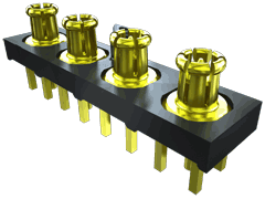 5.00 mm 50 Ohm  Ganged Micro-Miniature RF Plug, PCB Mount