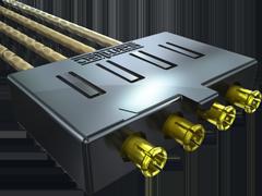5.00 mm 75欧姆联动微小型射频插头,电缆组件