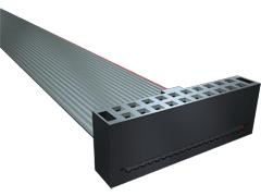 """.100"""" 双排IDC带状电缆组件,插座"""