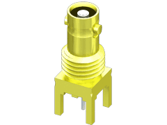 75 Ohm High-Density BNC Bulkhead Jack, Through-hole