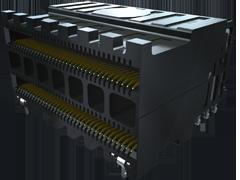 0.635 mm Eye Speed® HDハイスピード高密度レセプタクル