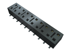 "Cost Effective Surface Mount Socket, 0.100"" Pitch"