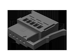 2.00 मिमी एकल पंक्ति पृथक वायर आईडीसी प्रणाली केबल असेंबली हाउसिंग, सॉकेट