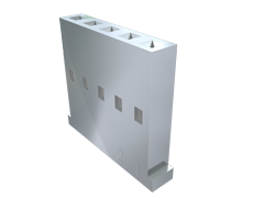 ".100"" Mini Mate®通用分离式导线插座单排外壳"