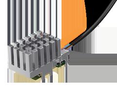 拡張温度PCIe®-Over-Fiberケーブルアッセンブリー