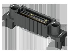 0.635 mm Q2™ハイスピード ラギッド グランドプレーン ソケットストリップ、エッジ実装