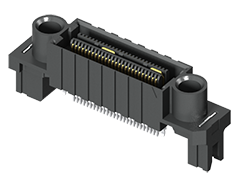 0.635 mm Q2™ हाई स्पीड मज़बूत ग्राउंड प्लेन सॉकेट स्ट्रिप, एज माउंट