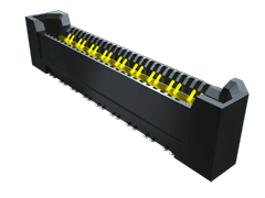 0.80 mm Q Rate®高速接地型连接器细长型插座料带,差分对