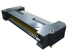 0.80 mm Q Rate®ハイスピード グランドプレーン スリムボディ ソケットストリップ、ライトアングル