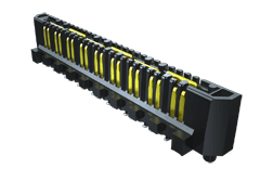 0.80 mm Q Rate®高速接地型连接器细长型针脚料带,差分对