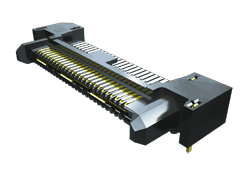 0.80 mm Q Rate®高速接地型连接器细长型针脚料带,直角