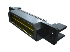0.80 mm Q Strip® High-Speed Ground Plane Terminal Strip, Edge Mount