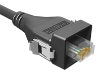 AccliMate™ IP68 Sealed Rectangular Ethernet Cable Assembly, Plug