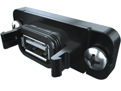 AccliMate™ IP68 Sealed Rectangular USB Panel Connector, PCB Mount