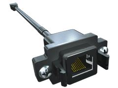 AccliMate™ IP68防水/防塵角型イーサネット パネル ケーブル アッセンブリー