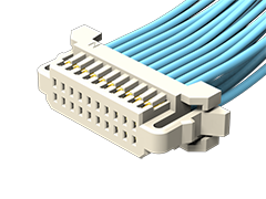 1.00 mm双排分离式导线Teflon®电缆组件,插座