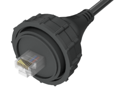 AccliMate™ IP68 Sealed Circular Ethernet Cable Plug Assembly