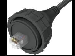 AccliMate™ IP68密封圆形以太网电缆插头组件