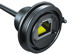 AccliMate™ IP68 Sealed Circular Ethernet Cable Assembly, Receptacle