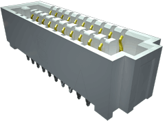 ".050"" SEARAY™高速端子开放式端子阵列插座,压接"
