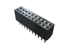 ".050"" Tiger Eye™ High-Reliability Flexible Pin Count Socket Strip"