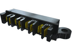 ".150"" PowerStrip™/20 A Hermaphroditic Terminal/Socket Strip"