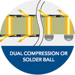 Dual Compression or Solder Ball